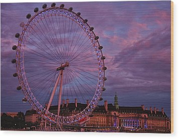 The Millennium Wheel Wood Print