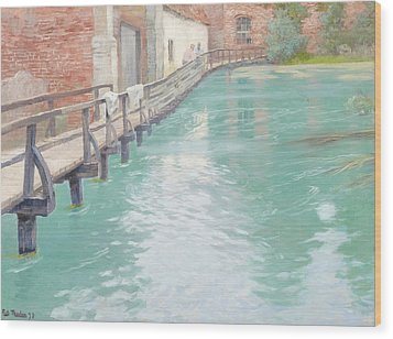 The Mills At Montreuil Sur Mer Normandy Wood Print by Fritz Thaulow