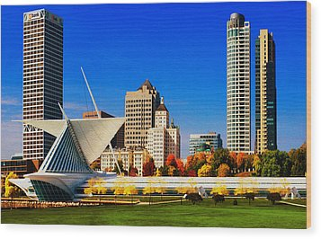 The Milwaukee Art Museum Wood Print by Jack Zulli
