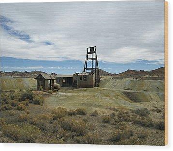 The Mine Wood Print by Marilyn Diaz