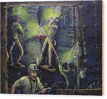 The Miners Way Wood Print