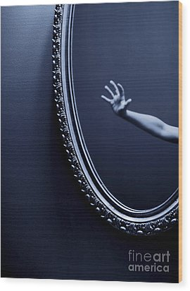 The Mirror Wood Print by Diane Diederich