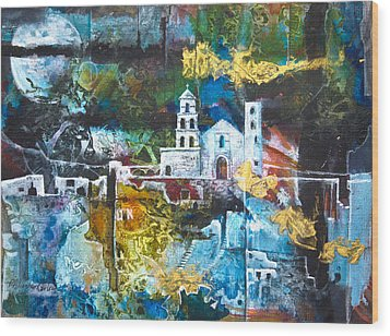 The Mission Wood Print by Patricia Allingham Carlson