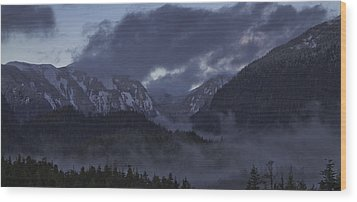 Wood Print featuring the pyrography The Mist by Timothy Latta
