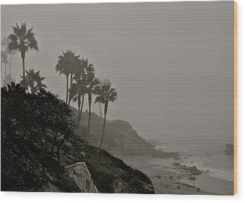 The Mists Of Laguna Beach Wood Print by Kirsten Giving