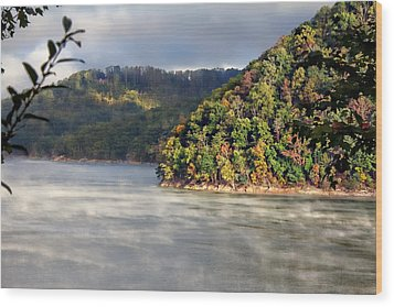 The Mists Of Watauga Wood Print by Tom Culver