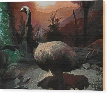 The Moa Wood Print by Steve Taylor