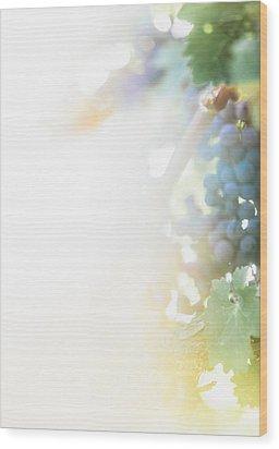 The Modern Grape 3 Wood Print by Clint Brewer