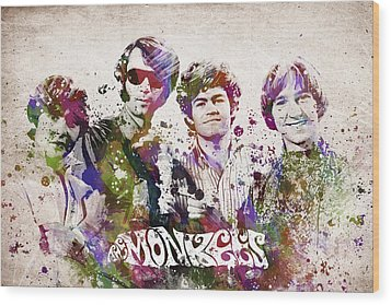 The Monkees Wood Print by Aged Pixel