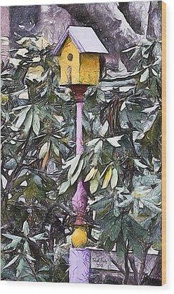 The Monkey's Garden Wood Print by Trish Tritz