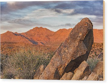 Wood Print featuring the photograph The Monolith by Anthony Citro