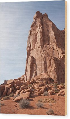 Wood Print featuring the photograph The Monolith by John M Bailey