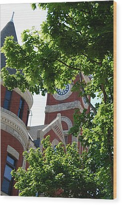 Wood Print featuring the photograph The Monroe Courthouse Tower by Ramona Whiteaker