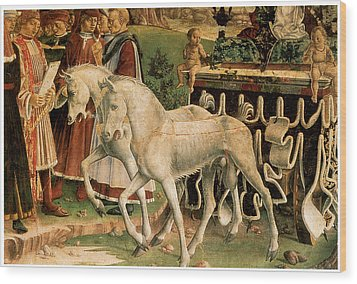 The Month Of March Wood Print by Francesco Del Cossa