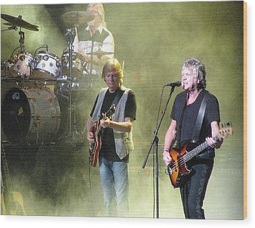 The Moody Blues In Concert Wood Print by Melinda Saminski