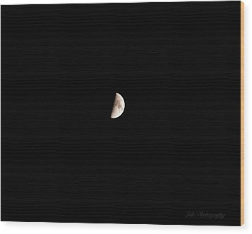 The Moon Wood Print by BandC  Photography