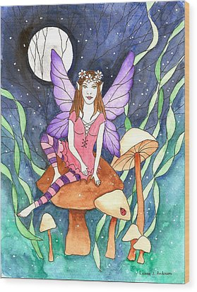 The Moon Fairy Wood Print
