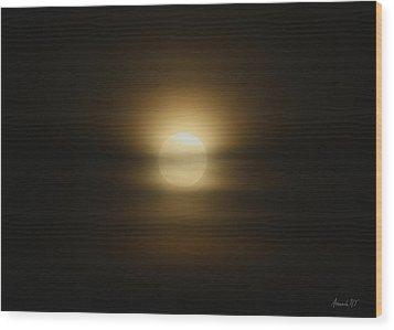 The Moon In June Wood Print by Amanda Holmes Tzafrir