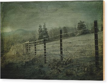 The Morning After Wood Print by Kathy Jennings