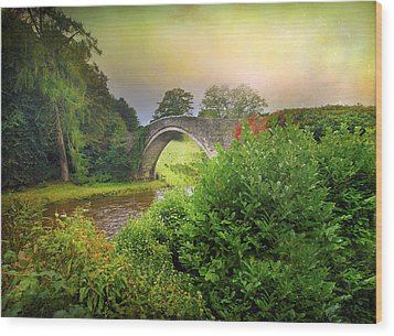 Wood Print featuring the photograph The Morning Bridge by Roy  McPeak