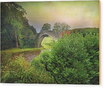 The Morning Bridge Wood Print by Roy  McPeak