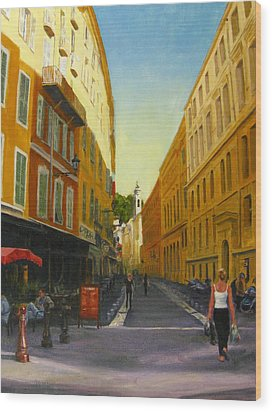 The Morning's Shopping In Vieux Nice Wood Print