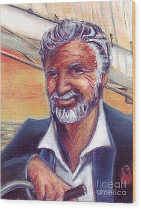 The Most Interesting Man In The World Wood Print