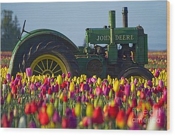Wood Print featuring the photograph The Most Photographed Tractor In Oregon by Nick  Boren