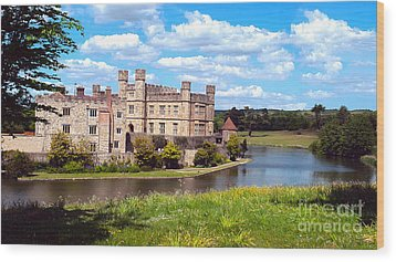 The Most Romantic Castle In England Wood Print by MaryJane Armstrong