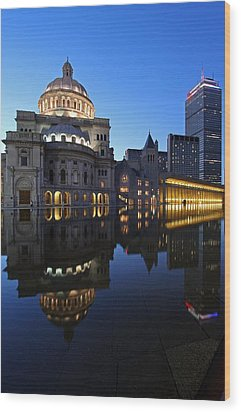 The Mother Church And The Pru Wood Print by Juergen Roth