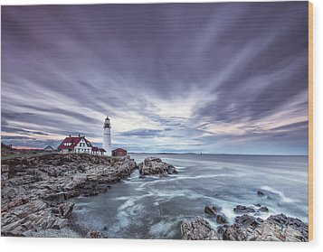 The Motion Of Light Wood Print by Jon Glaser