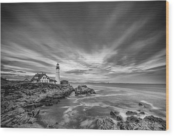 The Motion Of The Lighthouse Wood Print by Jon Glaser