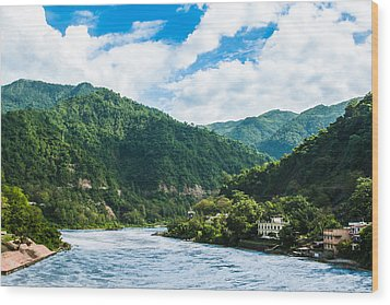 The Mountain Valley Of Rishikesh Wood Print
