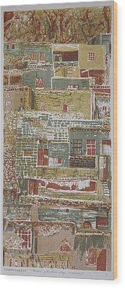 The Mountain Village Wood Print