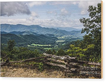 The Mountains Are Calling Wood Print by Marilyn Carlyle Greiner