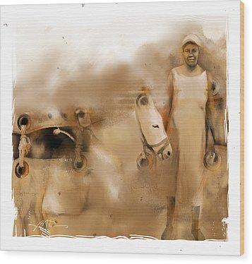 The Mule Skinner Wood Print by Bob Salo