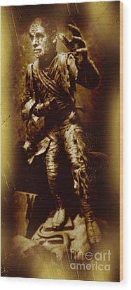 The Mummy Document Wood Print by John Malone
