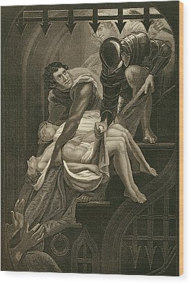 The Murder Of The Two Princes Wood Print by James Northcote