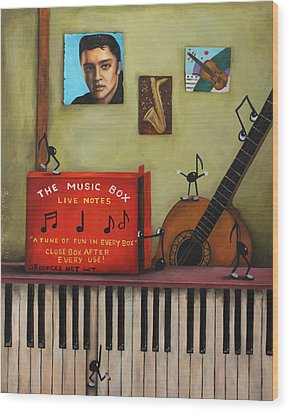 The Music Box Wood Print by Leah Saulnier The Painting Maniac
