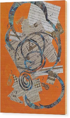 The Music Goes Round And Round Wood Print by David Raderstorf
