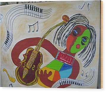 The Music Practitioner Wood Print