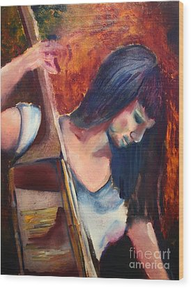 The Musician Wood Print by Michael Kulick