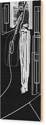 The Musician Wood Print