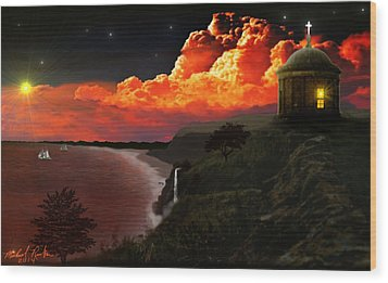 The Mussenden Temple - Ireland Wood Print by Michael Rucker