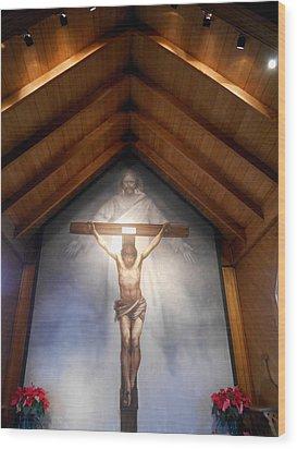 The Mystery Of Faith Frescoe Wood Print