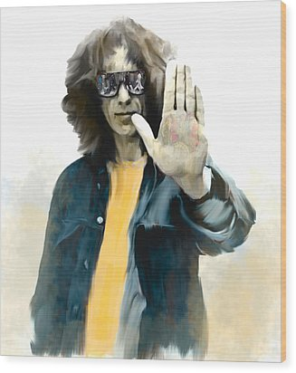 The Mystical One  George Harrison Wood Print by Iconic Images Art Gallery David Pucciarelli