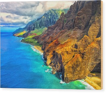 The Na Pali Coast Of Kauai Wood Print