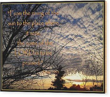 The Name Of The Lord Wood Print by Glenn McCarthy Art and Photography