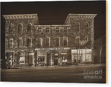 The National Bank Of Davis Wv Wood Print by Dan Friend