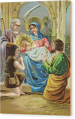 The Nativity Wood Print by Bill Cannon